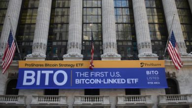 Photo of ProShares Bitcoin Futures ETF 'BITO' Hauls In $570M of Assets in Stock-Market Debut